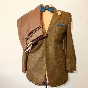 Ermenegildo Zegna Trofeo Wool Suit 40 R Green Tone